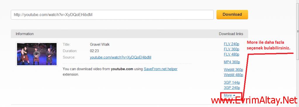Youtube Hiç Sorunsuz Video İndirme. Tek Tık, İstediğin Format 4